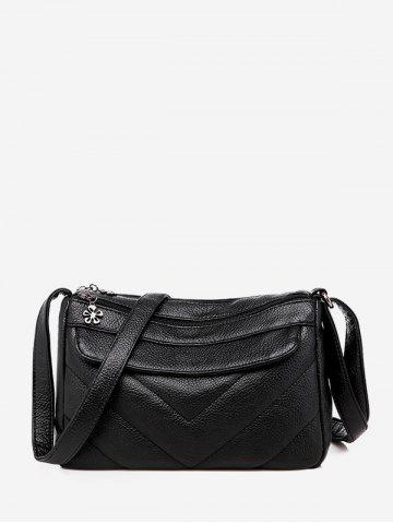 Quilted Small PU Leather Crossbody Bag
