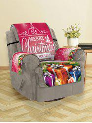 Christmas Tree Gifts Greeting Pattern Couch Cover -