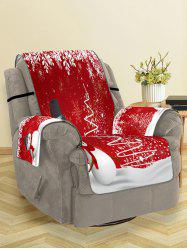 Christmas Tree Snowman Snowflake Pattern Couch Cover -