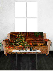 Christmas Tree Gift Printing Couch Cover -