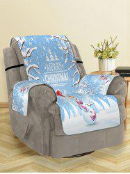 Merry Christmas Snowman Printing Couch Cover -