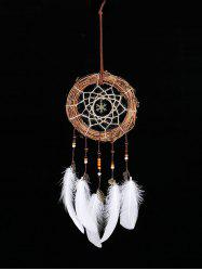 Forme de flocon de neige de Noël à la main Indian Dream Catcher - Blanc Sans lumières