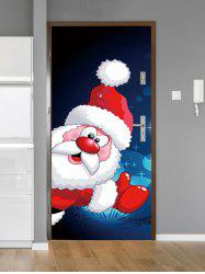 Christmas Santa Claus Snowflake Print Decorative Door Art Stickers -