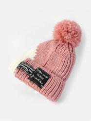Winter Colorblock Bobble Hat -