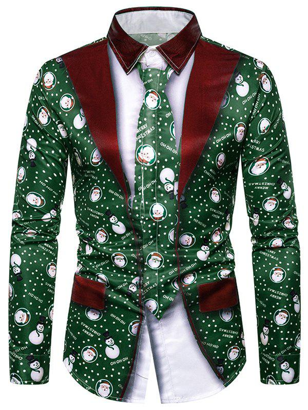 Affordable Christmas Snowman Graphic 2 in 1 Tuxedo Shirt