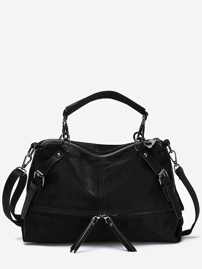 Shops Zip Pocket Top Handle Shoulder Bag