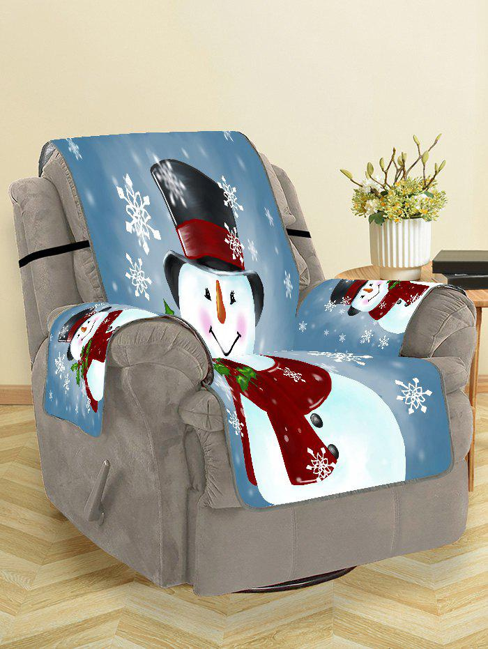 Trendy Christmas Snowman Snowflakes Pattern Couch Cover