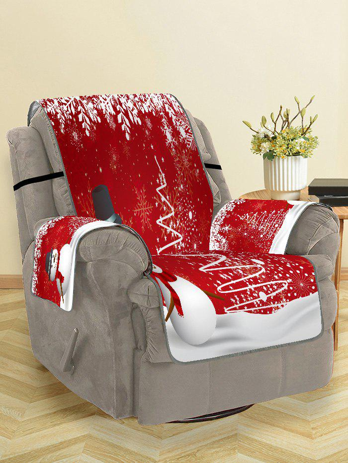 Shops Christmas Tree Snowman Snowflake Pattern Couch Cover