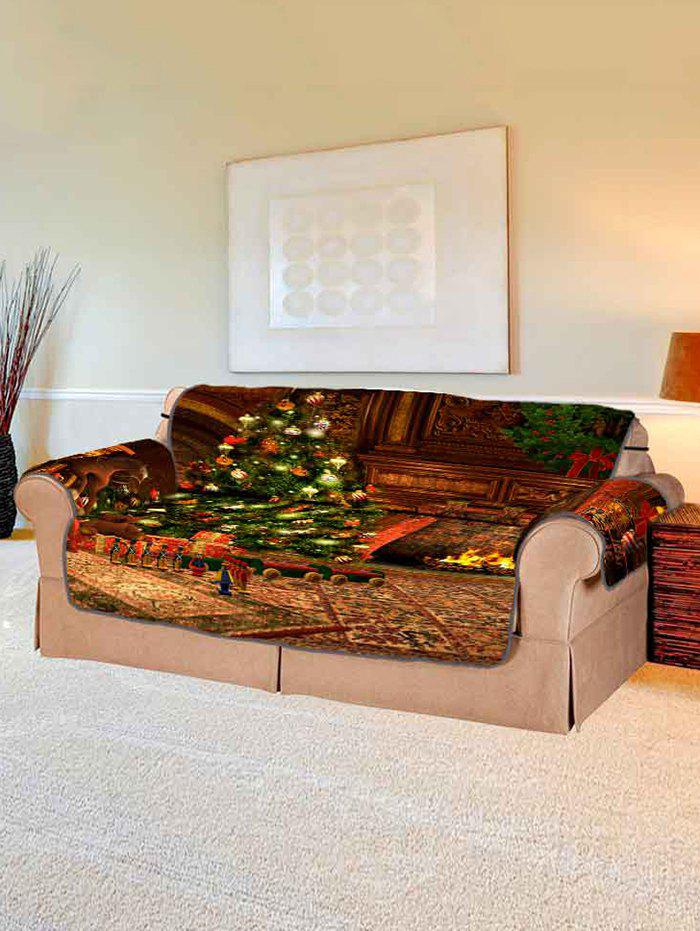 Store Christmas Tree Gift Printing Couch Cover