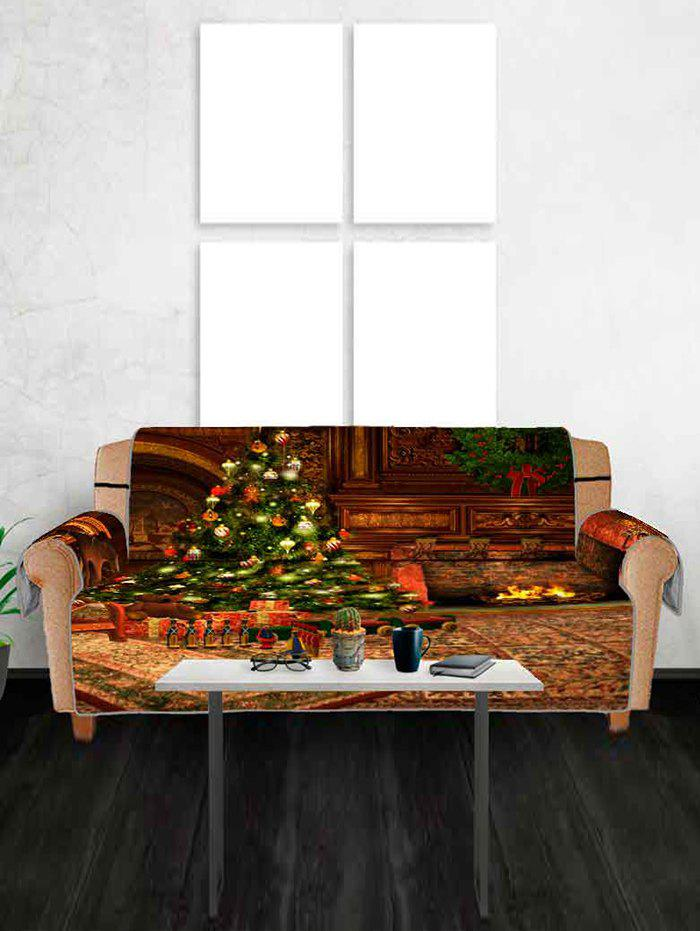 Fancy Christmas Tree Gift Printing Couch Cover