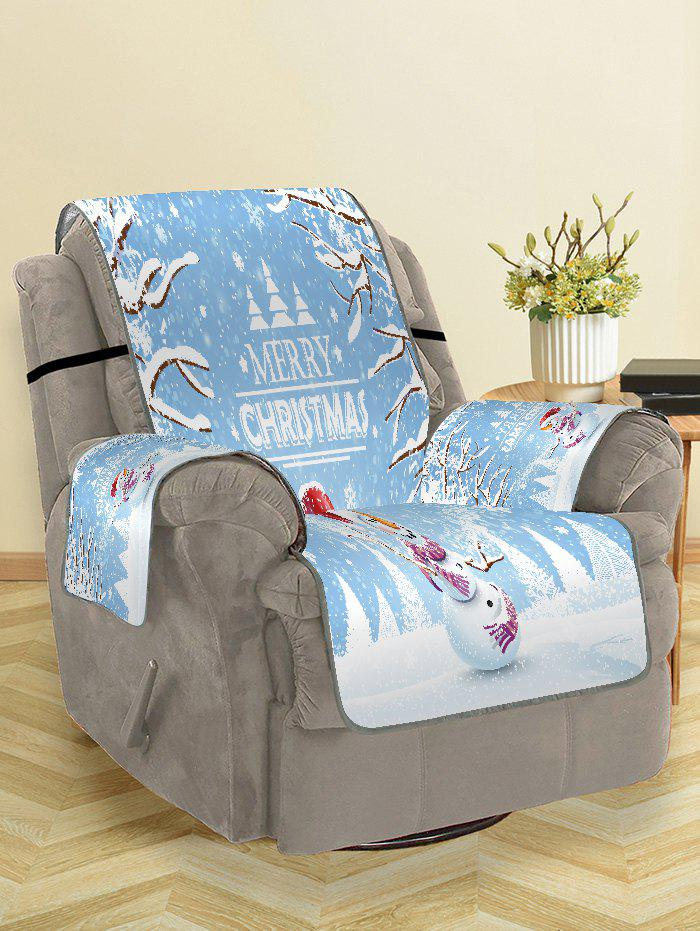 Latest Merry Christmas Snowman Printing Couch Cover