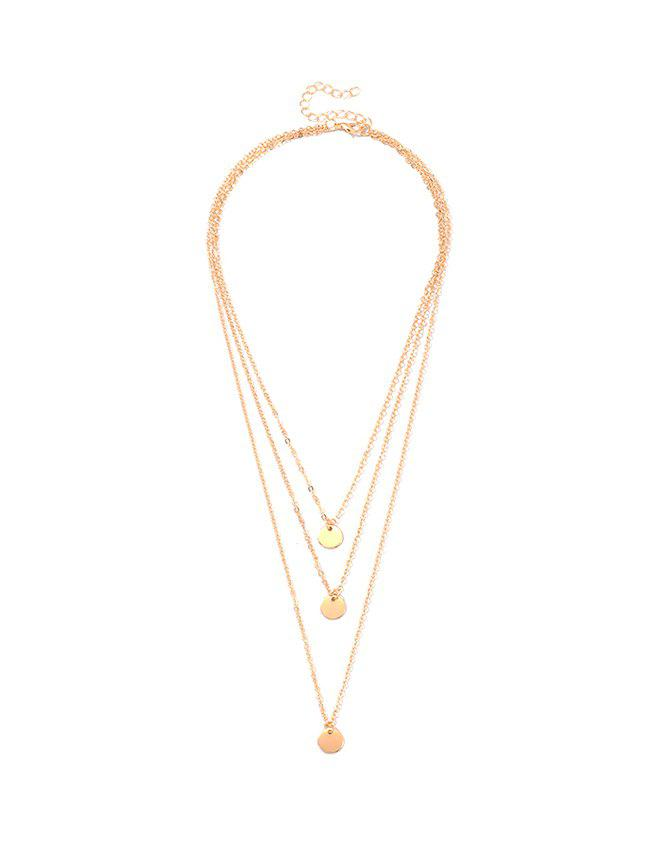 Outfit Alloy Sequin Layered Necklace