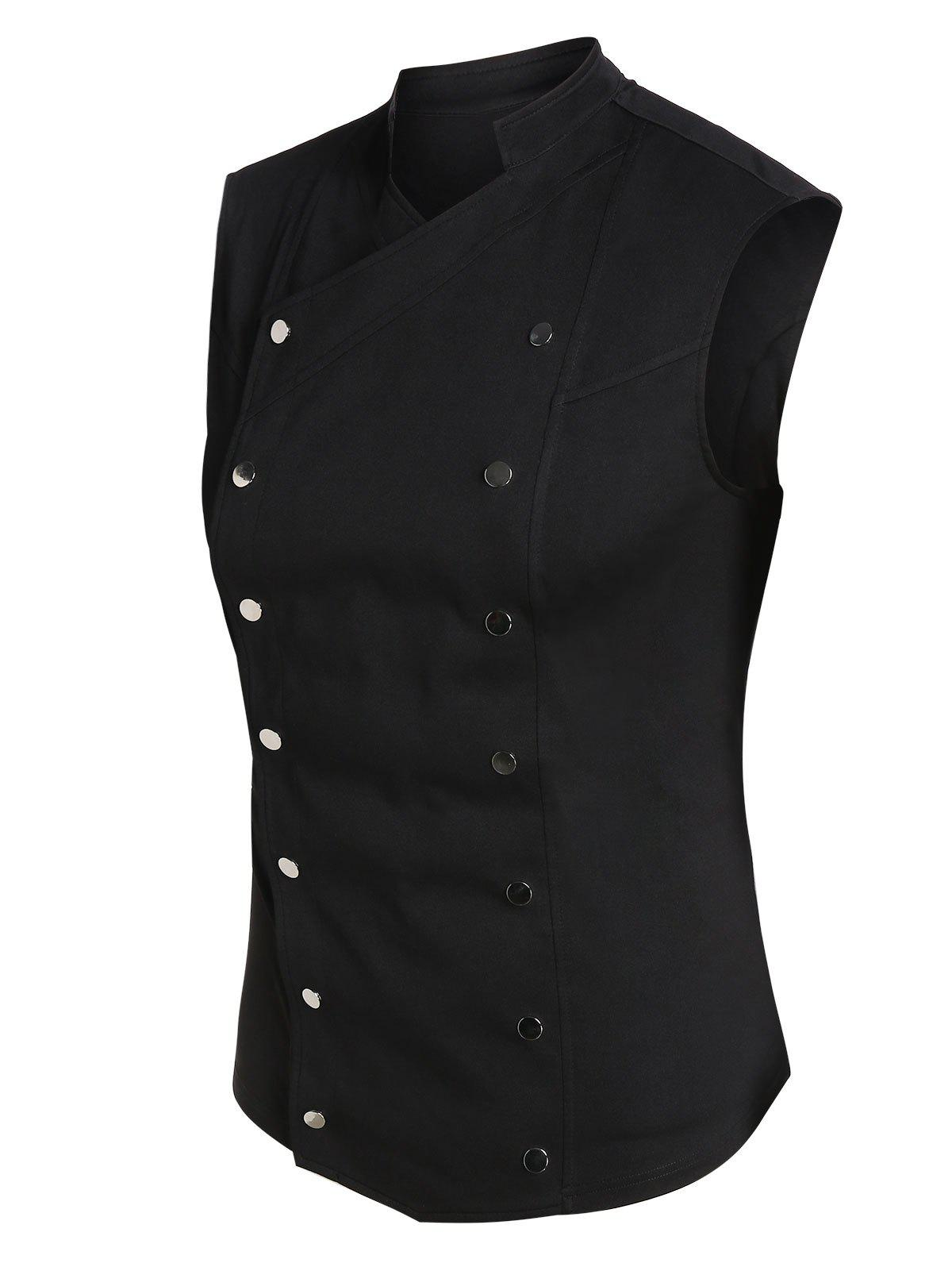 Buy Snap Buttons Fitted Vest