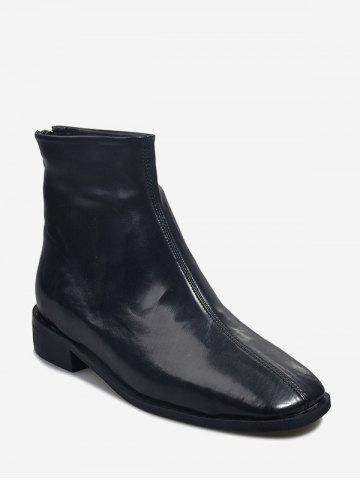 Square Toe Low Heel Short Boots