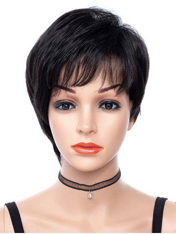 Synthetic Side See-through Bang Short Straight Wig