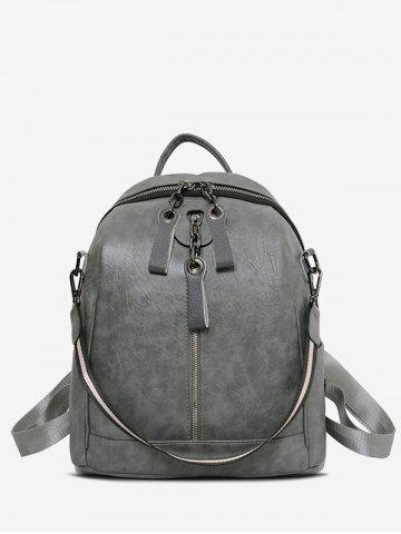 Multifunctional PU Leather Casual Backpack