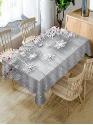 Christmas Snowflake Wooden Table Cloth -