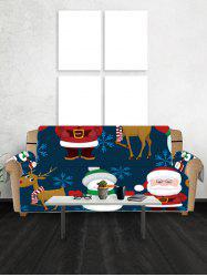 Father Christmas Snowman Printing Couch Cover -