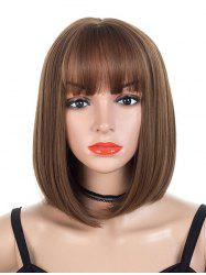 Neat Bang Synthetic Straight Medium Bob Wig -