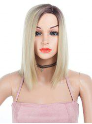 Synthetic Side Part Medium Ombre Straight Wig -