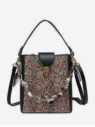 Snakeskin Pattern Shoulder Messenger Bag -