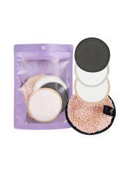 4Pcs Makeup Remover Furry Face Cleansing Puff -