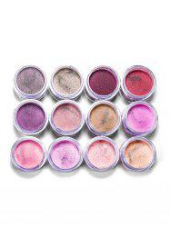 12 Colors Transparent Glitter Nail Dipping Powder -