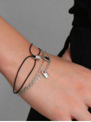 2Pcs Brief Small Lock Bracelets Set -