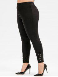 Plus Size O-ring High Waisted Leggings -
