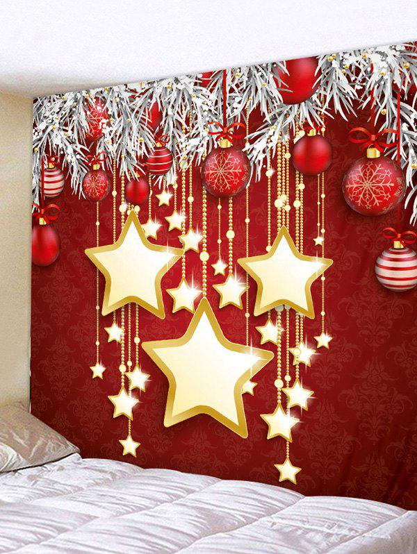 Store Christmas Star Balls Decoration Pattern Tapestry