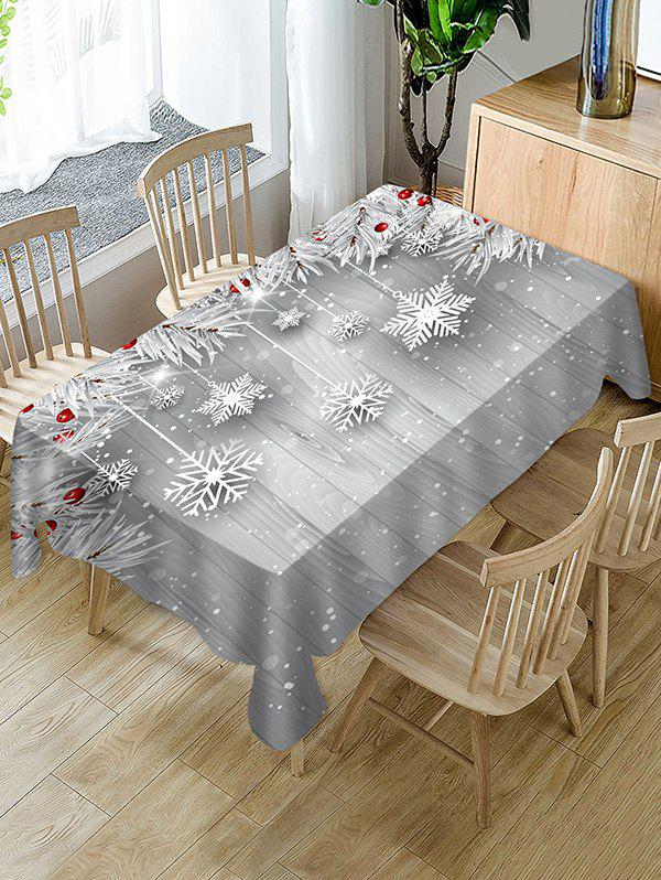 Trendy Christmas Snowflake Wooden Table Cloth