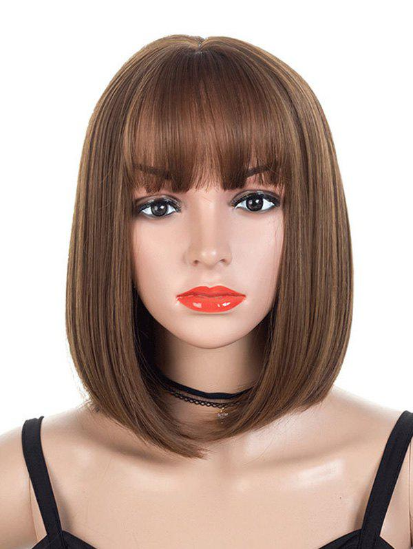 Buy Neat Bang Synthetic Straight Medium Bob Wig