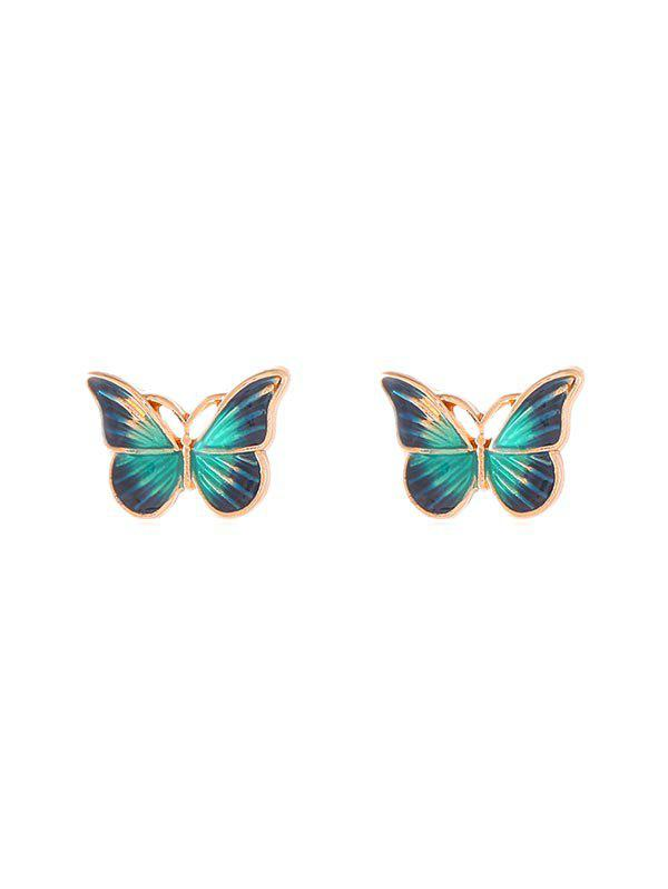 Buy Drops Oil Butterfly Stud Earrings