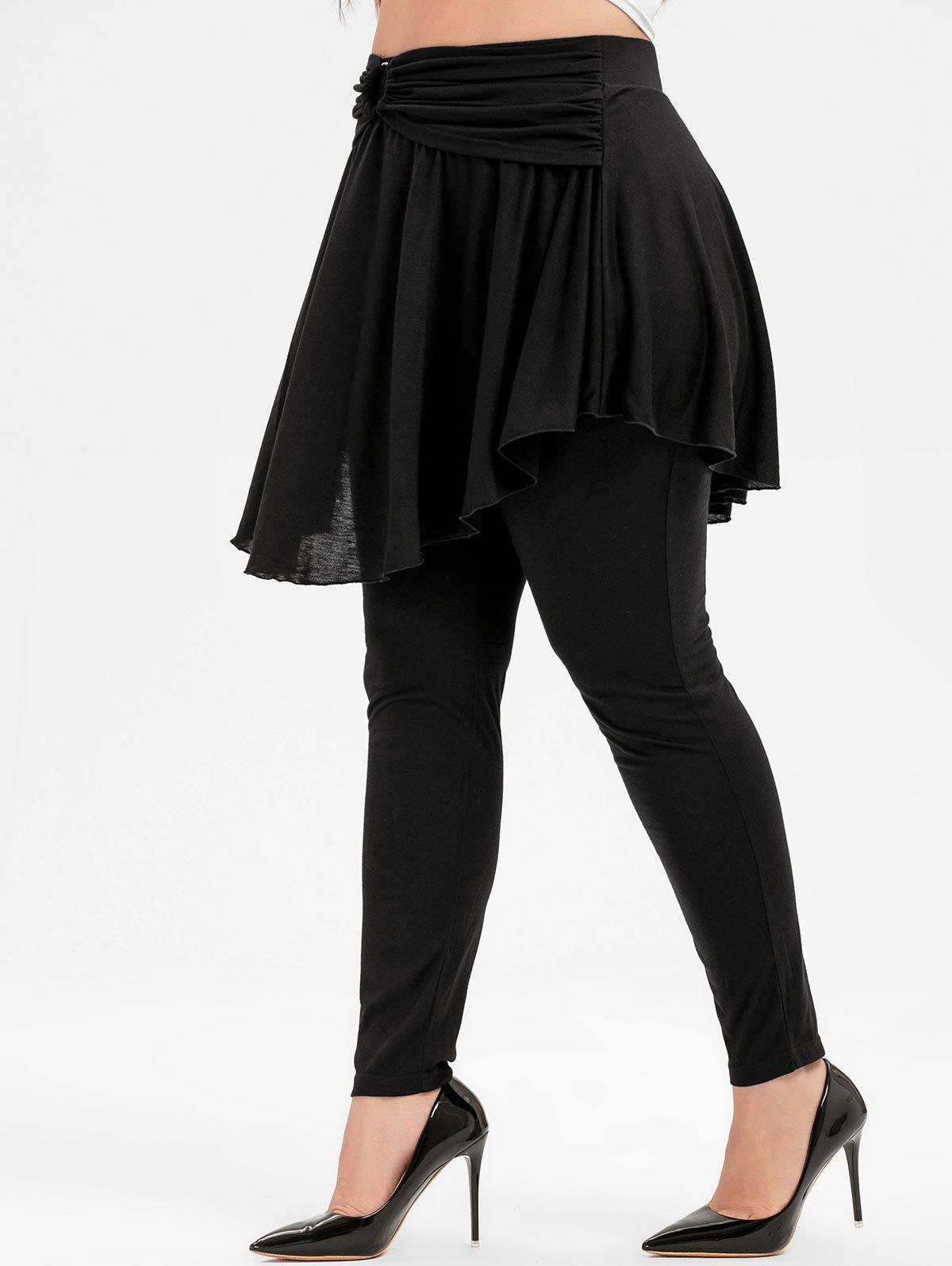 Hot Plus Size High Waisted Skirted Pants