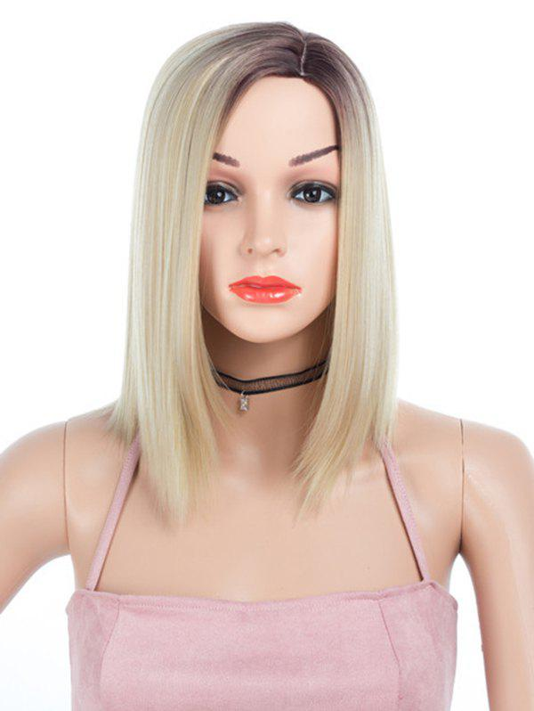 Buy Synthetic Side Part Medium Ombre Straight Wig