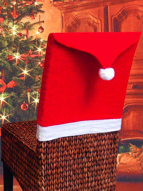 Fancy Christmas Hat Contrast Pattern Chair Back Cover