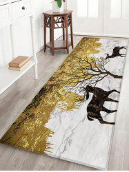 Elks and Tree Pattern Water Absorption Area Rug -