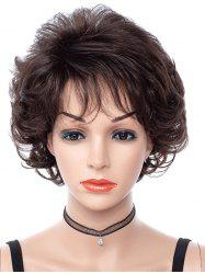 Side Bang Curly Short Synthetic Fluffy Wig -