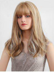 Full Fringe Long Colormix Straight Synthetic Wig -