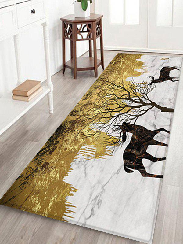 Store Elks and Tree Pattern Water Absorption Area Rug