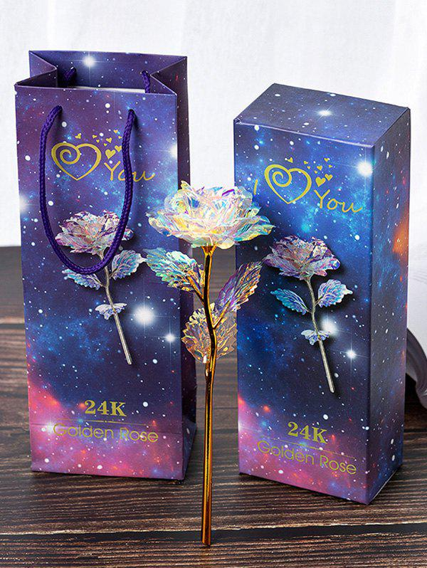 Latest Colorful Plated Artificial Rose Flower In A Box