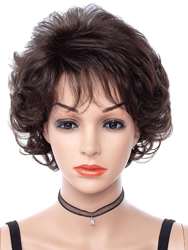 Fancy Side Bang Curly Short Synthetic Fluffy Wig