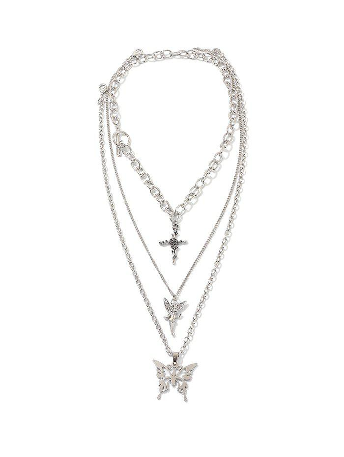 Outfits Angel Butterfly Multilayered Chian Necklace
