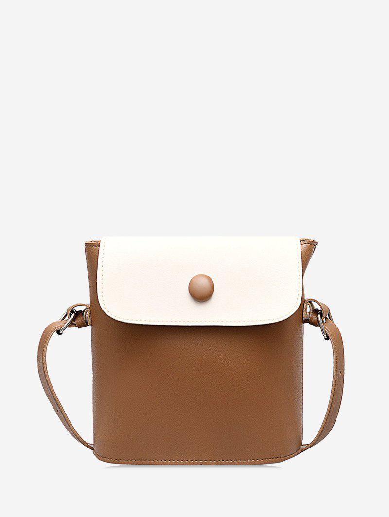 Store Flap PU Leather Sling Bucket Bag