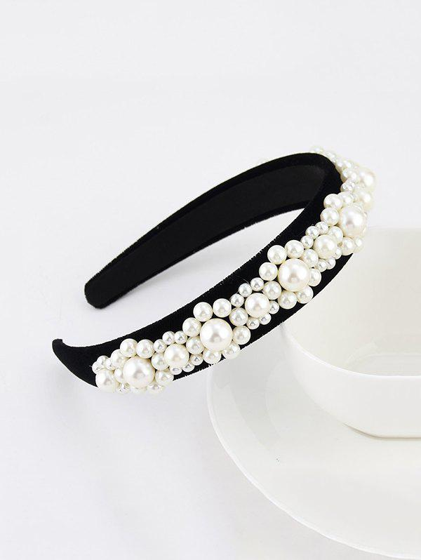 Shops Baroque Faux Pearl Velour Wide Hairband