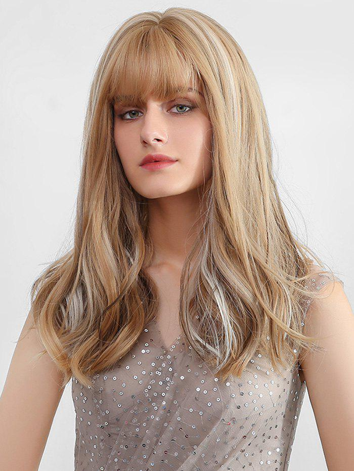 Fashion Full Fringe Long Colormix Straight Synthetic Wig