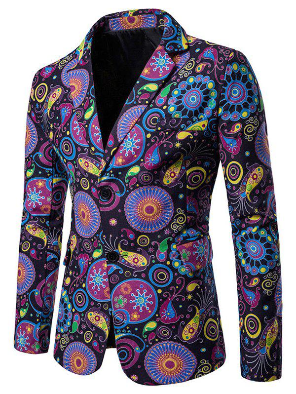 Outfits Paisley Print Single Breasted Lapel Blazer