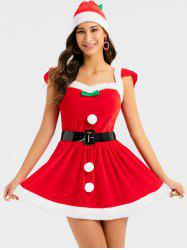 Christmas Sweetheart Cosplay Santa Claus Dress with Hat -