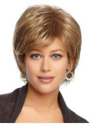 Straight Fluffy Synthetic Side Part Wig -