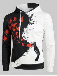 Splatter Butterfly Art Graphic Front Pocket Casual Hoodie -
